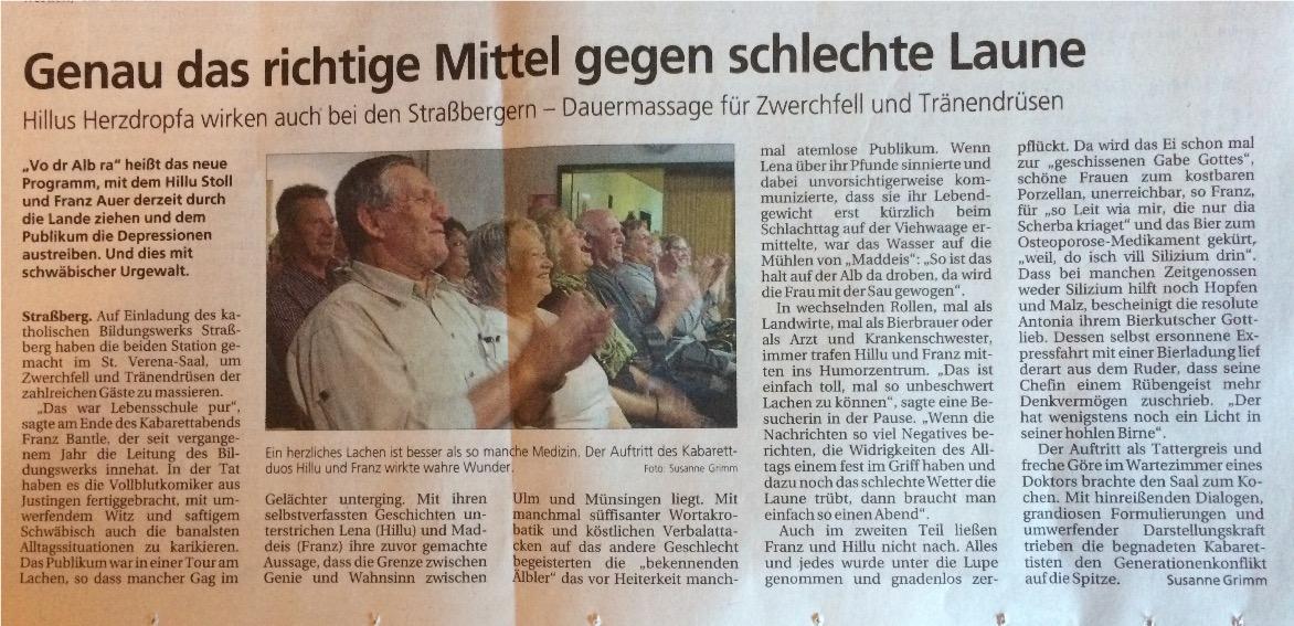 Bericht Straßberg