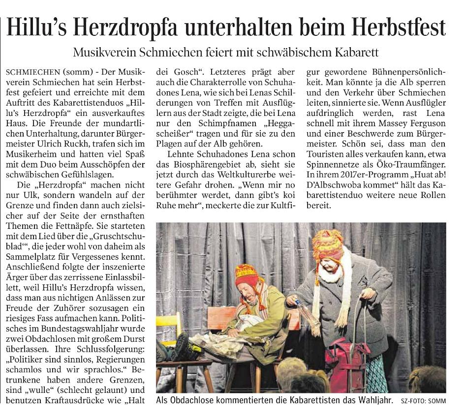 Schwäb. Zeitung 19.09.2017 - Schmiechen 03