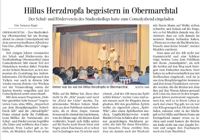 Schwäbische Zeitung 02.10.2018b