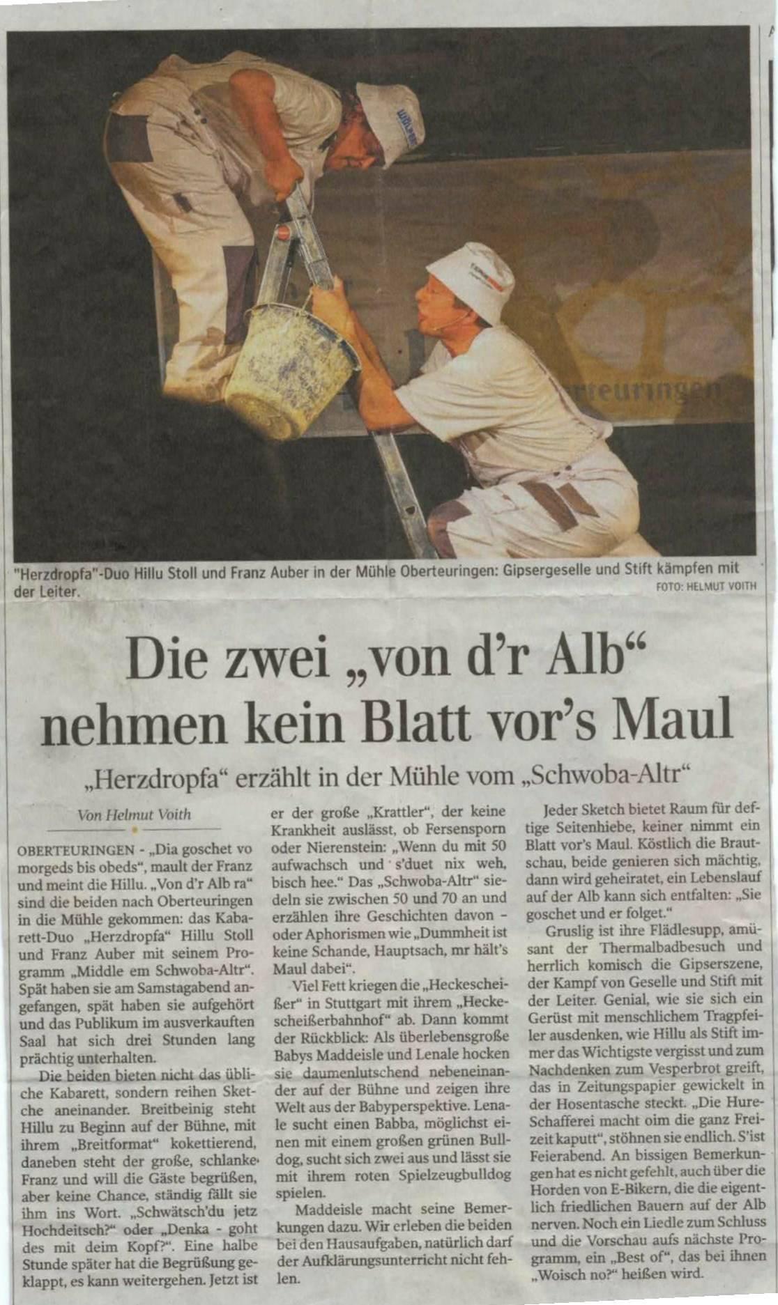 Auftritt Mühle in Oberteuringen, 07.06.2014