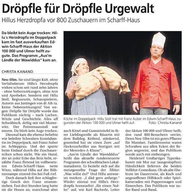 Südwestpresse vom 18.01.2012